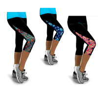 Ladies NDO™ Capri 3/4 Length Workout Leggings - sport yoga jogging gym running