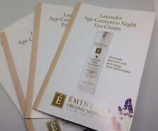 NEW EMINENCE LAVENDER AGE CORRECTIVE NIGHT ~EYE~ CREAM 6 SAMPLE PACKS ORGANC