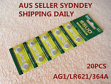 20pcs AG1/LR621/364A Button Cell Coin JAPAN STD Alkaline Battery 1.55V  Watches