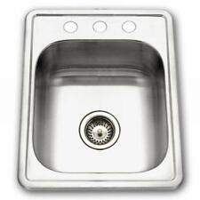 "17"" X 22"" TopMount Stainless Steel Single Bowl Kitchen / Bar Prep Sink"