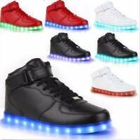Unisex Men LED Light Lace Up Casual Night Running Luminous Shoes Sports Sneakers