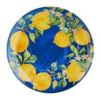 Lemon Blue Medallion Lemons Melamine Dinner Plates Set of 4 by Pier 1 Imports