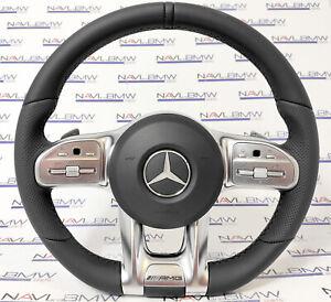 Mercedes C-class AMG W205 LCI C217 Sport Steering Wheel Flat Bottom LHD EU USA