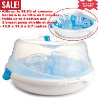 Esterilizador de Vapor de Microondas de Botella Biberones de Bebé
