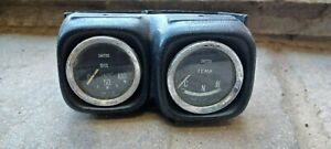 Classic Mini Smiths Temp And Oil Gauge In Dash Mount Pod