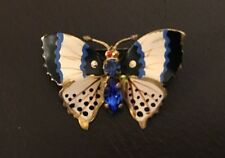 Butterfly Brooch - With Blue Jewels