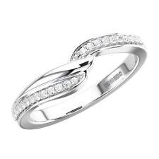 0.10Ct Round Brilliant Cut Diamond Half Eternity Wedding Ring In 950 Platinum