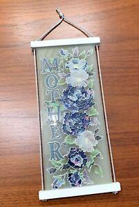 Vintage Stained Glass Suncatcher Wall Art Joan Baker Designs Cottage Rose MOTHER