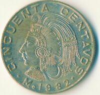 COIN / MEXICO  50 CENTAVOS  1982     #WT11823