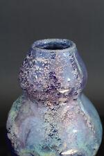 Petit Vase Art Déco en Céramique d'Art de Bordeaux CAB 4 bel émaillage Bilobé