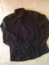Chemise  homme- Coton noir - Manches longues -  Marque RG 512 -  Taille X L