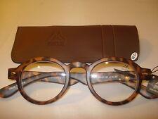 AUTH MONTANA VINTAGE DESIGNER PREPPY ROUND READING GLASSES READERS TORTOISE 3.00