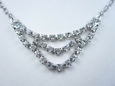 """Crystals - 16-18"""" Length 0598 Rachel Rhodium Plated Necklace with Swarovski"""