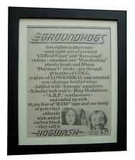 GROUNDHOGS+Hogwash+POSTER+AD+RARE ORIGINAL 1972+QUALITY FRAMED+FAST GLOBAL SHIP