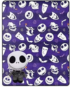 The Nightmare Before Christmas Jack Skellington Throw Blanket and Pillow