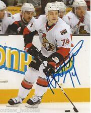 Ottawa Senators Mark Borowiecki Signed Autographed NHL Photo 8x10 COA B