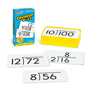 Division 0-12 Skill Drill Flash Cards - Educational Cards - Teaching