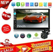 AUTORADIO ANDROID 2 DIN STEREO MP5 7.0 QUAD CORE WiFi Bluetooth GPS + TELECAMERA