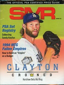 January 2021 SMR Sports Market Report Price Guide New Never Read Sealed Kershaw