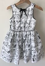 Next Girls Party Summer Bunny Black And White Dress Age 3 2-3 Years