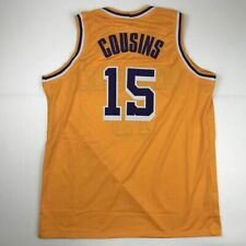 New Demarcus Cousins Los Angeles Yellow Custom Stitched Basketball Jersey Men Xl