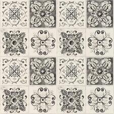 Rasch Floral Tile Wallpaper Kitchen Bathroom Leaf Motif Embossed Roll 885316