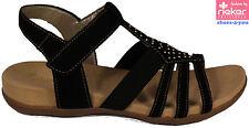 RIEKER Schuhe Sandaletten Freizeit Sandalen schwarz Klettverschluss NEU