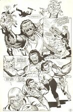 Planet of the Apes: Ape City #2 p.8 - Gun Fight - 1990 art by M.C. Wyman