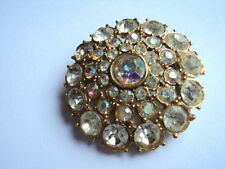 Unbranded Glass Vintage Costume Brooches/Pins (1960s)