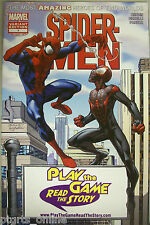 Spider-Men #1 Retailer Specific Variant PLAY THE GAME READ THE STORY Variant