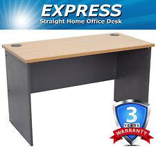 Express Straight Home Computer Office Desk - Beech/Ironstone