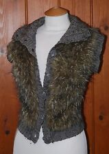 Greenhouse, Ladies, With Wool, Faux Fur, Knitted, Bodywarmer, Gilet, size S (8?)