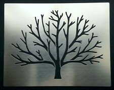 Winter Bare Tree Branches Stainless Steel Metal Stencil Pyrography 7.5cm x 10cm