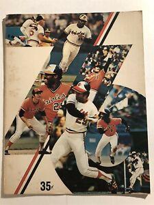 1976 BALTIMORE ORIOLES vs NEW YORK Yankees Brooks ROBINSON Prog REGGIE JACKSON