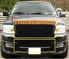 For FORD F150 2006 2007 2008 2PC Black Grille Combo Upper REPLACE+Bumper BOLT