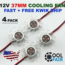 12V 37mm PC VGA Video Card Cooling Fan Heatsink Cooler Replacement 2-Pin 4-Pack