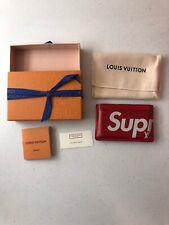 LOUIS VUITTON PARIS x SUPREME BOX LOGO Porte Carte Simple Epi CARD HOLDER RED LV