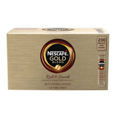 Nescafe Gold Blend Coffee Sticks Sachets x 200 Single Use Sachets