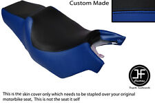 BLACK AND ROYAL BLUE VINYL CUSTOM FITS CAGIVA ROADSTER 125 DUAL SEAT COVER ONLY