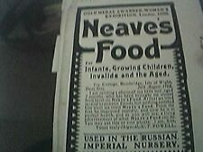 magazine picture - 1903 - neave's food london used in the imperial russian nurse