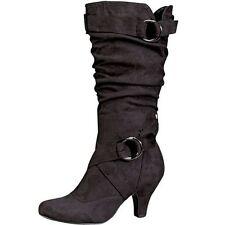 Wadenhohe Stiefel mit Absatz Kleiner als 3 cm für Damen