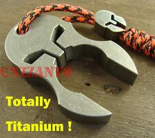 Titanium Ti Spartan Helmet self defense EDC survival escape tool + lanyard bead