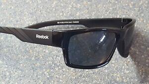 Reebok Polarized Black Wrap Sport Sunglasses