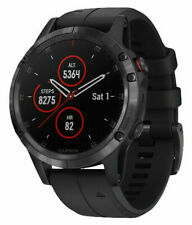Garmin fēnix 5S Plus with 47 mm Case and Black Band GPS Multisport Watch - Sapphire Edition