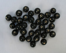 50grams of ROUND BLACK OPAQUE GLASS BEADS 9mm