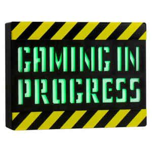 Gaming in Progress Light Sign Nightlight Desk Ideal Xmas Gift For a Game Lover.