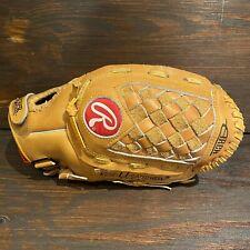 "Rawlings RBG34 RHT Tan Leather Baseball Softball 12"" Glove / Mint Condition"