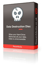 Data Destruction Software Erase Wipe Hard Drive Sweeper Trace Remover Boot DVD