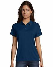 Hanes Cool Dri Polo Sport Shirt Women's Short Sleeve Tagfree Performance S-3XL