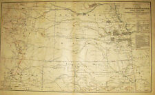 MAP WESTERN TERRITORIES INDIAN LANDS COLORADO NEW MEXICO KANSAS TERRITORY 1867